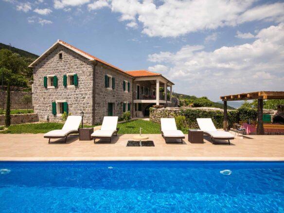 Luxury stone villa for sale in Lustica Bay