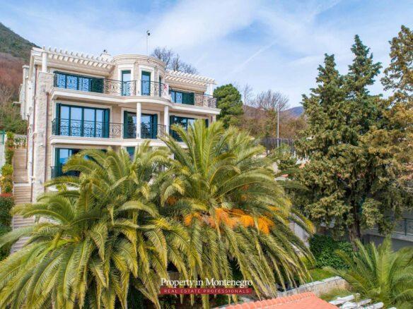 Luxury waterfront villa for sale in Kotor Bay