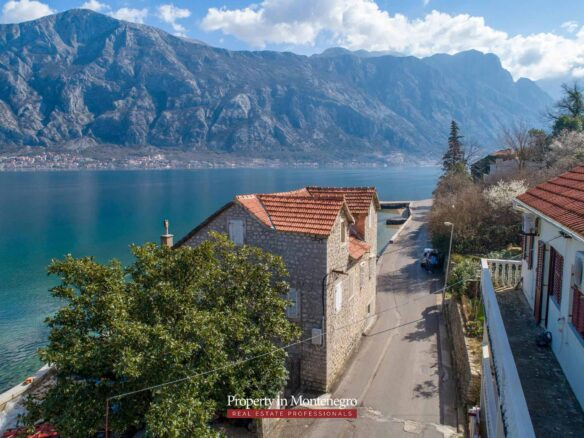 Waterfront house for sale in Kotor Bay