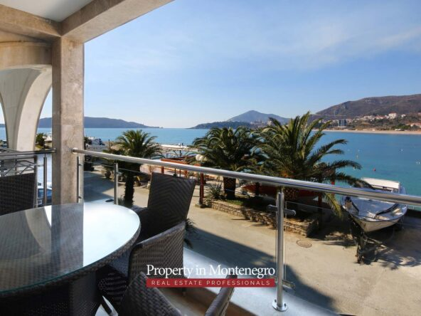 First line apartment for sale in Budva