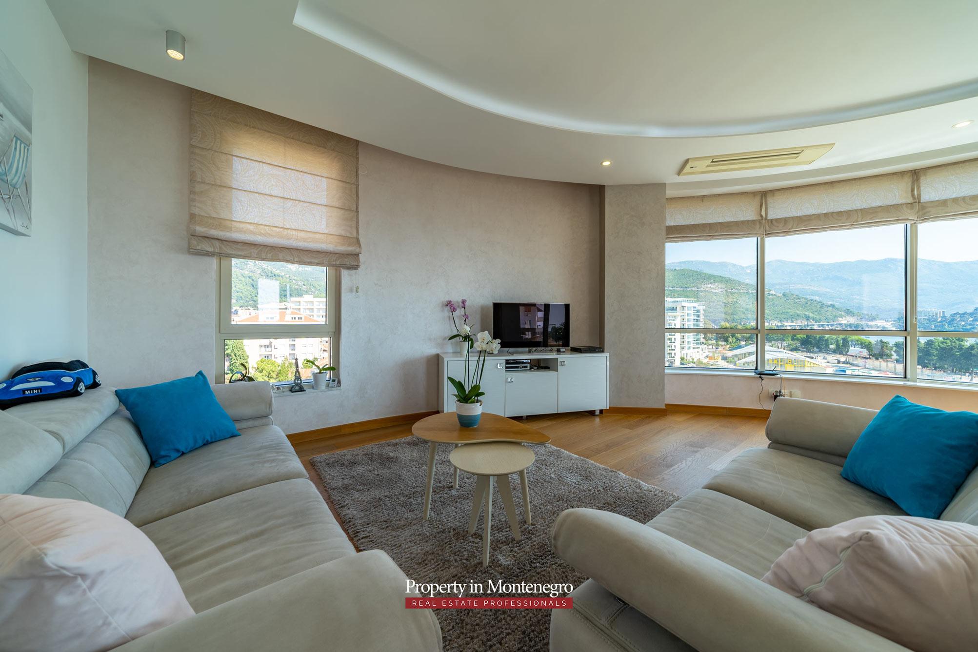 Luxury apartment for sale near city center of Budva