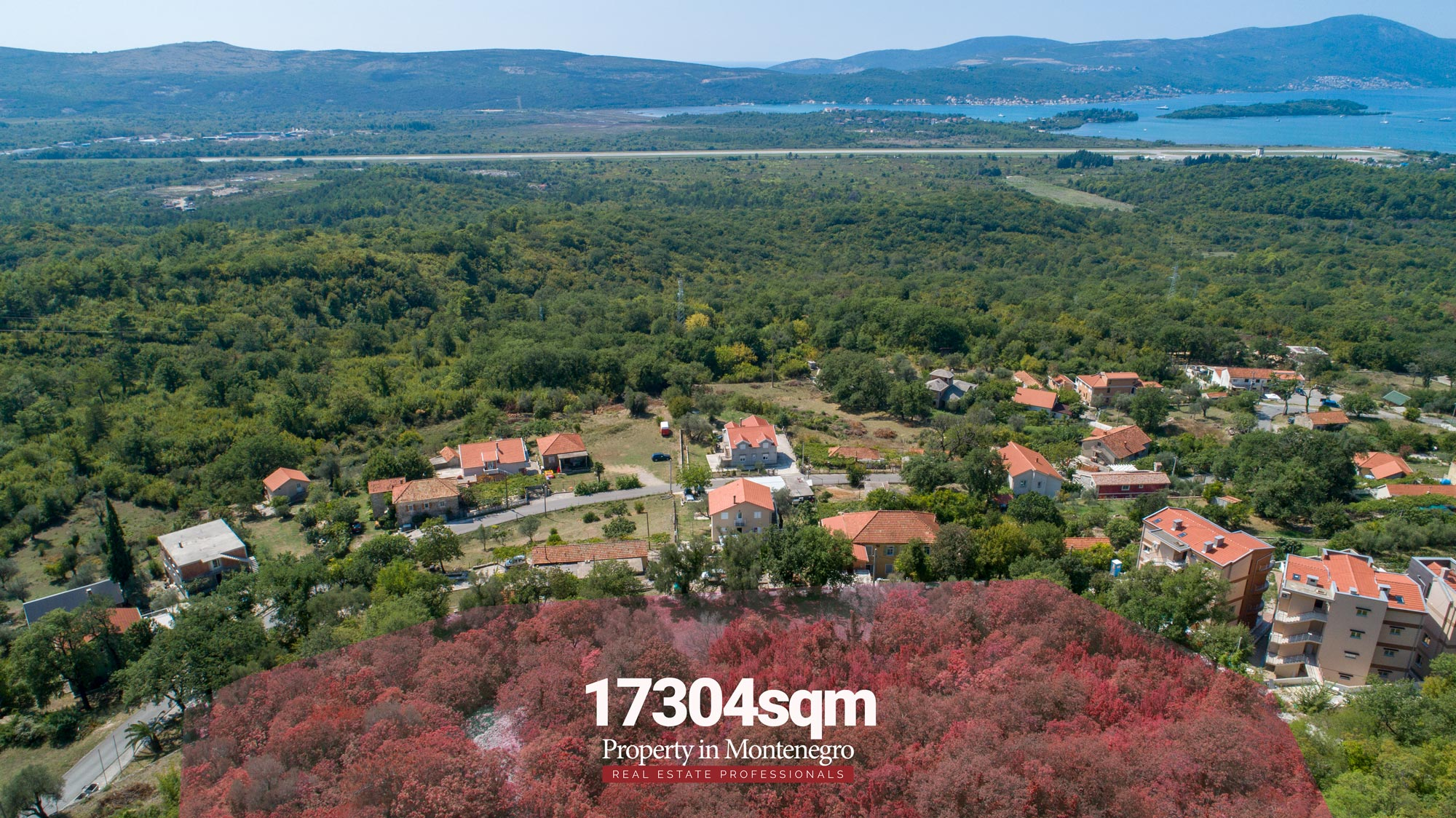 Seaview land for sale in Tivat