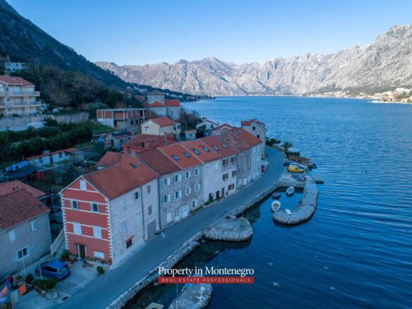 Seafront stone house for sale in Boka Bay