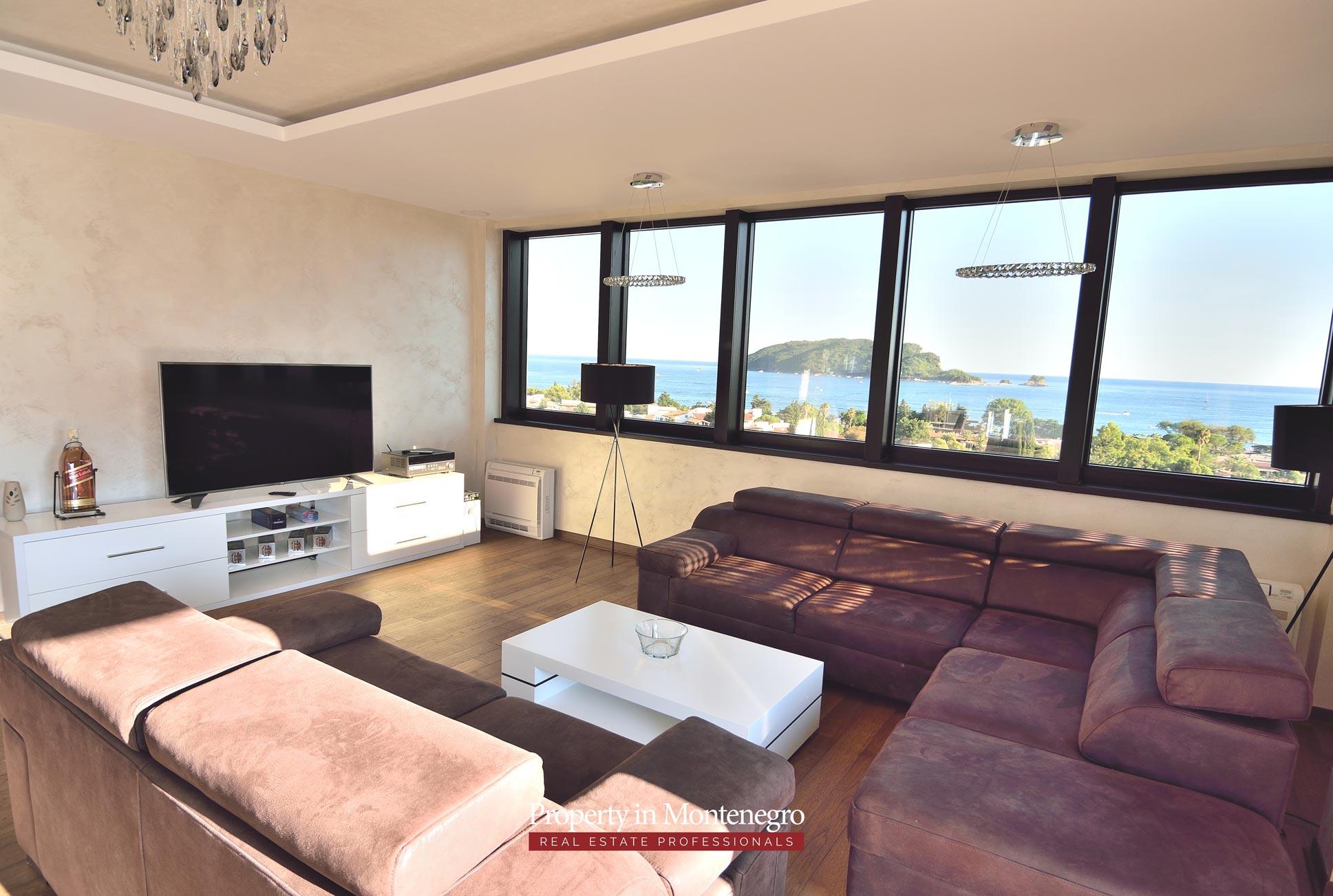Luxury penthouse for sale in Budva